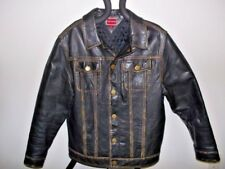 Tommy Hilfiger Stylish & Classy Leather Coat Men's Medium RN#77806