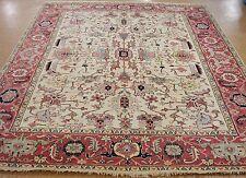 HERIZ Serapi Tribal Hand Knotted Wool  IVORY RUST NEW Oriental Rug Carpet 8 x 10
