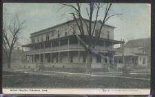 Postcard OSKALOOSA Iowa/IA  Abbott Hospital 2 Story Building 1907