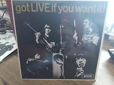 The Rolling Stones got Live if you want it! Decca Mono DFE 8620