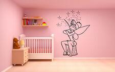 Wall Room Vinyl Sticker Mural Decal Peter Pan Fairy Magic Tinker Bell O134