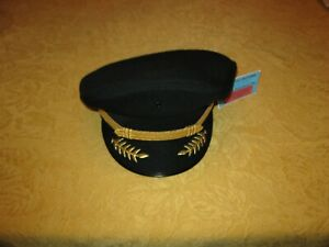 Airline Captain uniform pilot hat gold must-see NEW!!!!!!