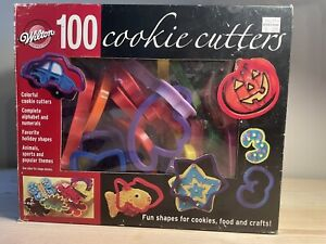 Wilton Set 79 Sandwich Cookie Cutters Sports Holidays Alphabet Numbers Used