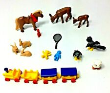 Lot of 17 Playmobil Animal Figures Horse Deer Rabbits Owl Doll Teddy Bear Birds
