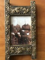 ORNATE ANTIQUE VICTORIAN PICTURE FRAME Wood Gesso 6 X 12 Gorgeous!