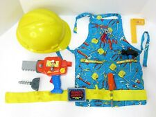 Handy Manny Tool Lot Power Drill Saw Belt Hat Carpenter Apron Dress Up Costume