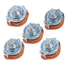 3-Pole 4-Position,15pins 5 pcs 4 Way Guitar Amplifier Rotary Switch For Guitar