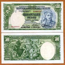 Uruguay, 500 Pesos, L. 1939 (1967), P-44b, aUNC