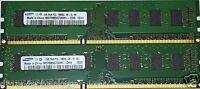 4GB 2x2GB DDR3 PC3-10600U 10600 DDR3-1333 MHZ CL9 MEMORY PC DESKTOP RAM 240 PIN