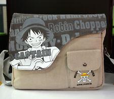 One Piece Straw Hat Pirates Luffy Canvas Shoulder Messenger Bag School Satchel
