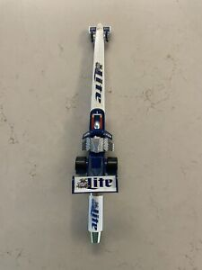 """VERY RARE NHRA Don """"the snake"""" Prudhomme Miller Lite beer tap handle. NEW"""
