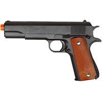 240 FPS FULL SIZE METAL M1911 SPRING AIRSOFT PISTOL HAND GUN w/ 6mm BB BBs