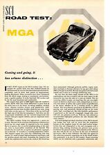 1958 MG MGA COUPE ~ ORIGINAL 4-PAGE ROAD TEST / ARTICLE / AD