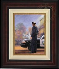 Thomas Kinkade Called To Serve 16 x 12 LE Gallery Proof Canvas (Burl Frame)