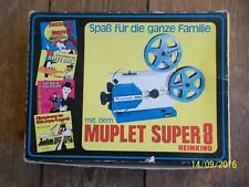 70er Jahre Muplet Super 8 Heimkino, Projektor+2x super 8 Filme(Trick+Stummfilm)
