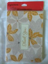 Hallmark Expressions Thank You Note Cards 8 Pack Gold & Silver Floral Holiday