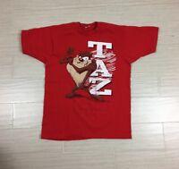 Vtg Taz Tee Shirt Size Large Red 1993