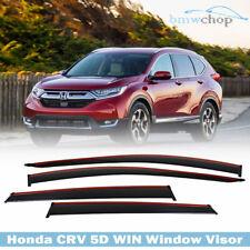 SUV For Honda 5D Hatchback CRV CR-V 4th Window Visor Chrome Red Line 2017