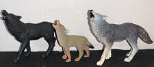 Wolf And Coyote Wildlife Howling Figure Safari Ltd Toys Figurine 3 In Lot