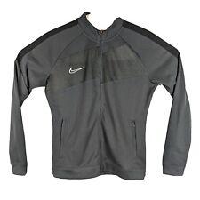 New listing Womens Gray Track Jacket Size Medium Nike Dry Full Zip Fitness Light Sweatshirt