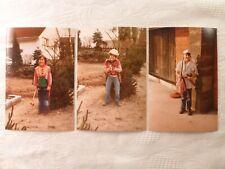 3x altes Foto Kind Kinder Fasching Karneval Kostüm Indianer Cowboy Seeräuber