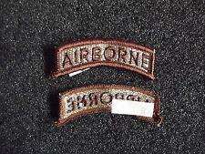 ^US Airborne Patch Aufnäher Braun
