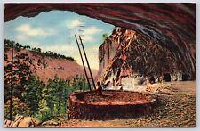 Kiva of Ancient Cliff Dwellers Rito De Los Frijoles, New Mexico Linen Postcard