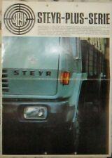 * Steyr Plus Serie 890 990 1290 Truck Lastwagen Prospekt 1968  Brochure deutsch