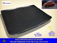 Vasca Baule 500 X in gomma proteggi bagagliaio Fiat su misura specifica con per
