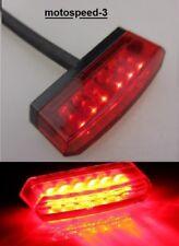 Faro fanale  fanalino posteriore  moto  a 6 led   rossi     universale