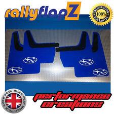 rallyflapZ SUBARU IMPREZA Clásico 93-01 Fladones guardabarros Azul STARS Blanco