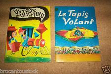 LOT DE BD ENFANTS DES ANNEES 1960 LE TAPIS VOLANT + LE VOYAGE DE LILY ET LULU