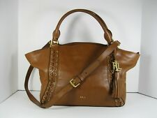 LAUREN RALPH LAUREN $498 NWT Ashfield  Adaline Brown Satchel Handbag Purse