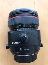 Canon TS-E 24mm f/3.5 L TS Lens xlnt condition