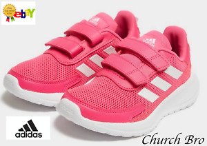 NEW ADIDAS TENSAUR RUN PINK TRAINERS WITH THE ICONIC 3-STRIPES SIZE UK 4