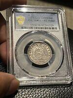 1878 Liberty Seated  Quarter PCGS Gold Sheila Genuine AU DETAILS Silver 25Cents