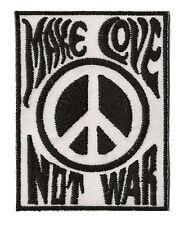 patch écusson ECUSSON brodé patche Make Love not War thermocollant