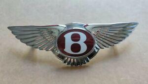 Bentley Badge Chrome Wings Bentley Grille Badge GT GTC Flying Spur Front Badge