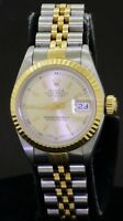 Rolex Datejust 69173 SS/18K gold automatic ladies watch w/ silver dial E-serial