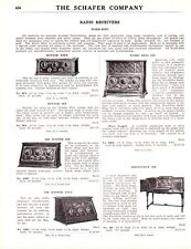 1926 Lot Decatur IN Schafer Catalog Pgs  Radio Receivers Speakers Tubes & Parts