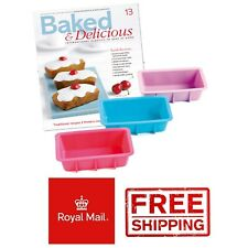 3 Mini Loaf Silicone Moulds Cases Bread Baking Loaves