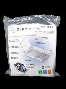 DiscSox DVD Pro Snap-Fit Tray for Blu-Rays & DVDs ~ Holds 65+ Movies ~ Brand New