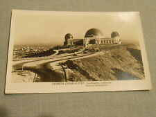 LOS ANGELES CA GRIFFITH OBSERVATORY 1940s RPPC Postcard by STARRETT
