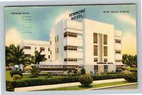 Miami Beach FL, Kenmore Hotel, Linen Florida c1943 Postcard