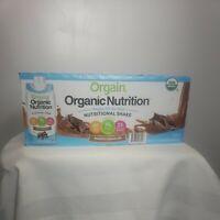Orgain Organic plant based 11 oz Shake vegan 16g protein smooth Chocolate 12 Ct
