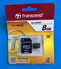 Transcend 8GB MicroSDHC Card - OEM - TS8GUSDHC4 New Sealed