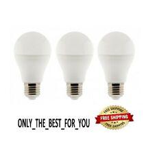 LED Light Bulbs Daylight 5000K 7 Watt 40 Watt Replacement A19 E26 Base - 3 Bulbs