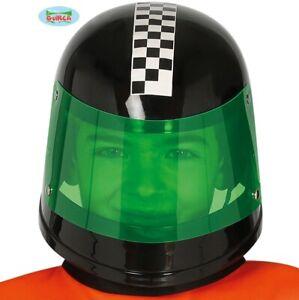Childs Unisex Racing Driver Helmet Kids Childrens Fancy Dress Driving Hat fg