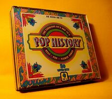 NEW CD Pop History The Fabulous 60's And 70's (4XCD) 1990 Beat Pop Flower Power