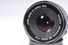 Konica Hexanon AR 50mm f/1.8 Standard Prime Lens